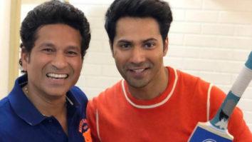 WATCH: Varun Dhawan and Abhishek Bachchan play gully cricket with master blaster Sachin Tendulkar