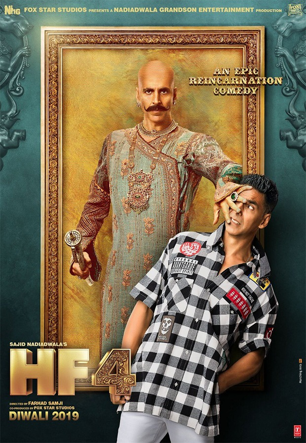 HOUSEFULL 4 FIRST LOOK: Akshay Kumar Rajkumar Bala and Harry in this reincarnation comedy