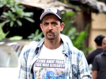 Photos: Hrithik Roshan snapped in Mumbai promoting War