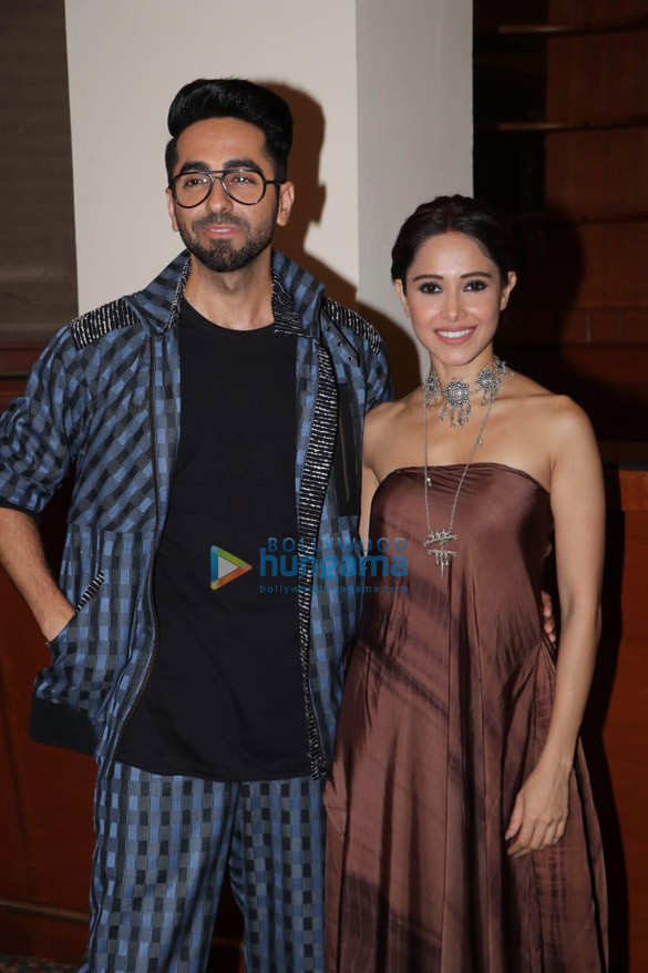 Photos Ayushmann Khurrana and Nushrat Bharucha snapped during 'Dream Girl' promotions (6)