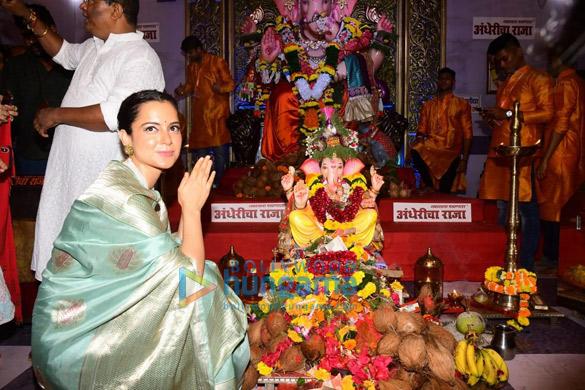 Photos Kangana Ranaut snapped at Andheri Cha Raja darshan (5)