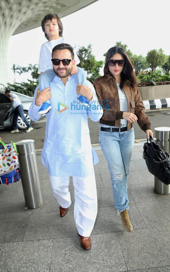 Photos Saif Ali Khan, Taimur Ali Khan, Kareena Kapoor Khan and others snapped at the airport (2)