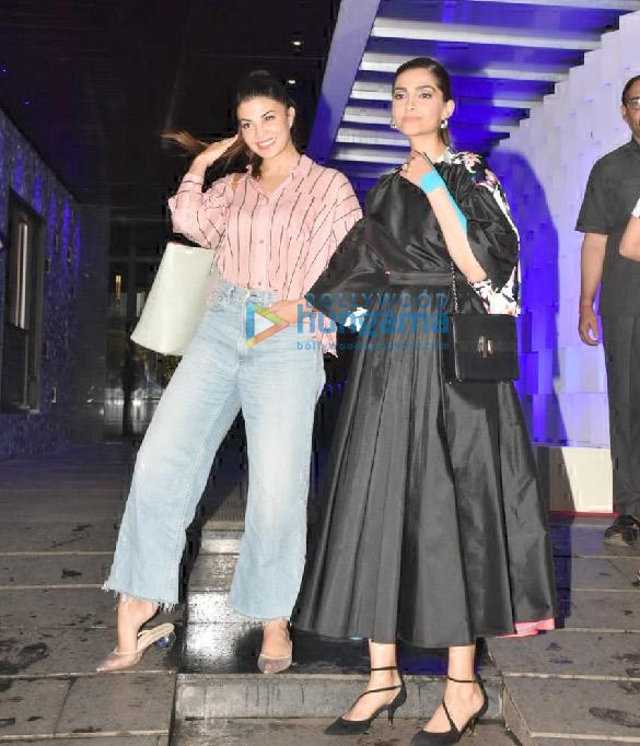 Photos Sonam Kapoor Ahuja and Jacqueline Fernandez spotted at Hakkasan in Bandra (3)