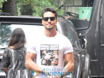 Photos: Tiger Shroff spotted during War promotions