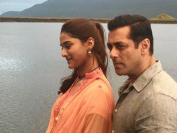 Salman Khan shares a dreamy picture from the sets of Dabangg 3 with Saiee Manjrekar!