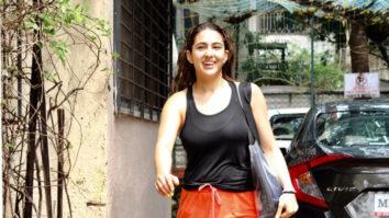 Sara Ali Khan spotted at dance class in Juhu