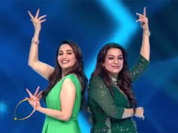 VIDEO Elegant divas Madhuri Dixit and Juhi Chawla groove on each other's iconic songs