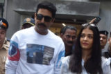 Aishwarya Rai Bachchan & Abhishek Bachchan cast their vote in Mumbai