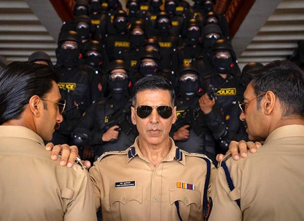 Akshay Kumar, Ajay Devgn and Ranveer Singhpose as the 'desi avengers of the cop universe'