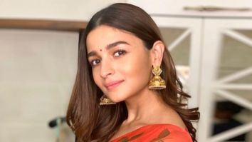 Alia Bhatt looks bespoke in a saree by Picchika as she heads for Durga Ashtami