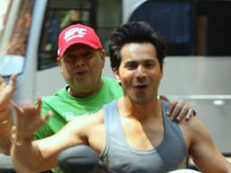 Coolie No 1: Father - son duo David Dhawan and Varun Dhawan enjoy morning scooty ride