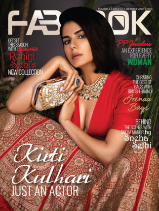 Kirti Kulhari on the cover of Fablook, Oct 2019