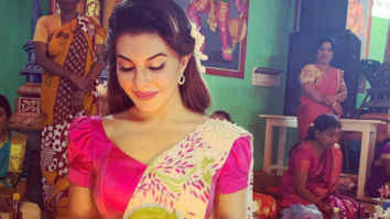Jacqueline Fernandez looks ethereal as she dons a beautiful festive outfit by Buddhi Batiks!