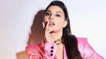 Jacqueline Fernandez looks pretty in pink as she dons a pantsuit by Judy Zhang
