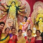 Kajol, Rani Mukerji, and Ayan Mukerji get together with family for Ashtami