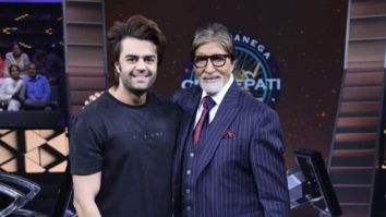 Maniesh Paul meets Amitabh Bachchan on the sets of Kaun Banega Crorepati ahead of Diwali