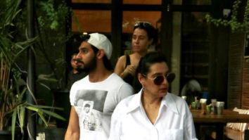 Photos: Ahan Shetty, Tania Shroff and Mana Shetty snapped at Suzzett in Bandra