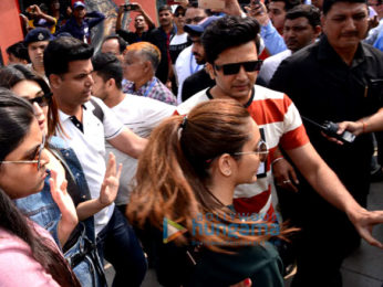 Cast of Housefull 4 snapped arriving in Delhi to promote the film