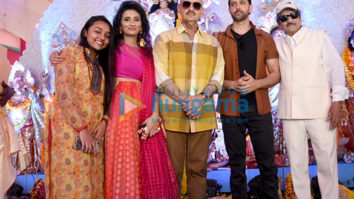 Photos: Hrithik Roshan and Rakesh Roshan snapped attending Durga Puja at the Biswajeet Chaterjee pandal in Juhu