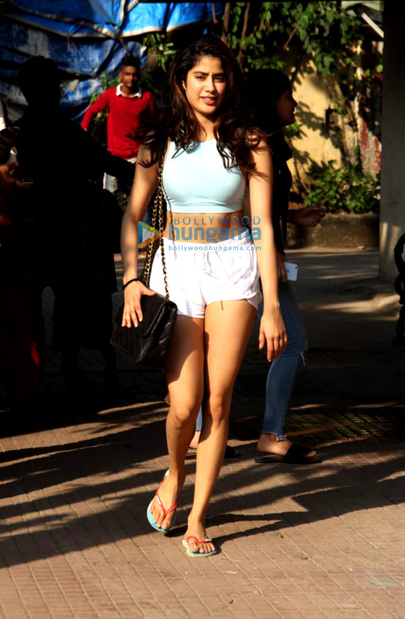 Photos: Janhvi Kapoor and Sara Ali Khan spotted at the Pilates gym