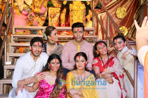 Photos Kajol, Rani Mukerji, Karan Johar and others snapped at Durga Puja (1)