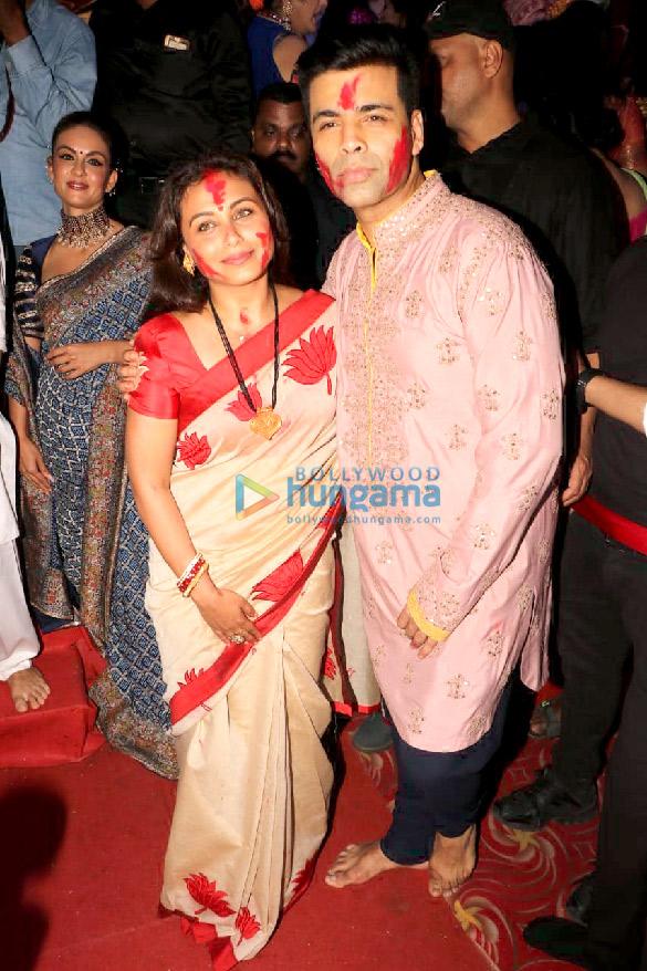 Photos Kajol, Rani Mukerji, Karan Johar and others snapped at Durga Puja (7)