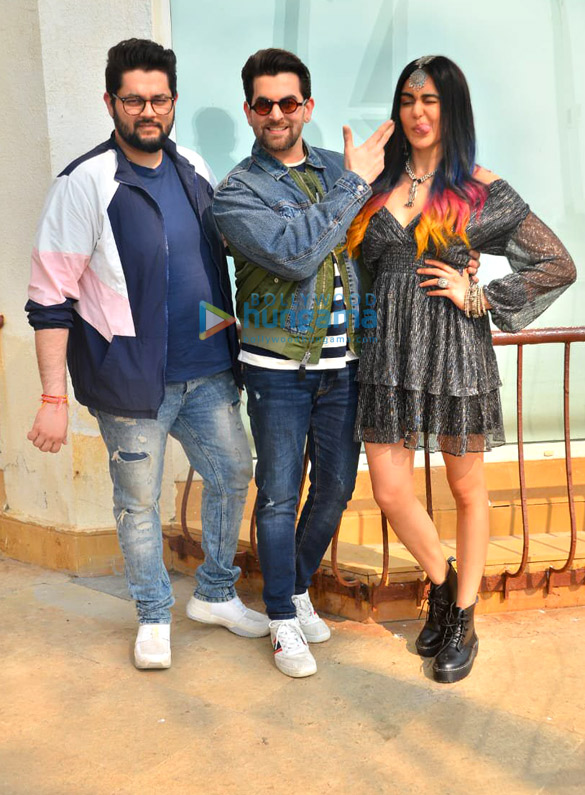 Photos Neil Nitin Mukesh, Adah Sharma and Naman Nitin Mukesh snapped promoting their film Bypass Road (4)