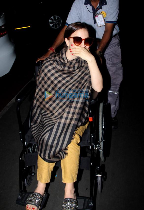 Photos: Saif Ali Khan and Elli AvRam snapped at the airport