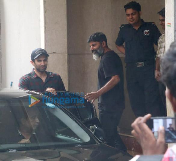Photos: Sanjay Dutt and Aditya Roy Kapur spotted at Mahesh Bhatt's office in Khar