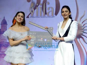 Photos: Sara Ali Khan and Rakul Preet Singh snapped during IIFA 2019 press conference in New Delhi