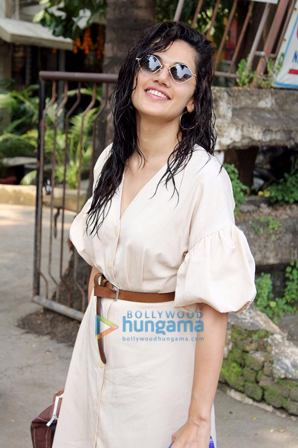 Photos: Taapsee Pannu spotted at Kromakay salon, Juhu