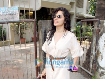 Photos: Taapsee Pannu spotted at Kromakay salon, Juhu