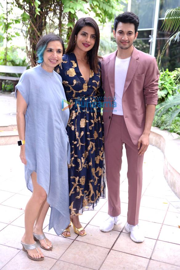 Photos: Priyanka Chopra Jonas, Rohit Saraf & Shonali Bose promote The Sky Is Pink in Delhi