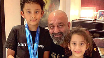 Sanjay Dutt shares an adorable picture as his twins turn a year older!