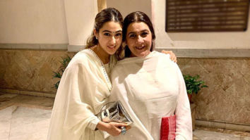 Sara Ali Khan and Amrita Singh look ethereal as they twin in their all-white ethnic outfits for a Diwali bash