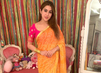 Saree-clad Sara Ali Khan celebrates Diwali with Varun Dhawan, Karan Johar, and Manish Malhotra