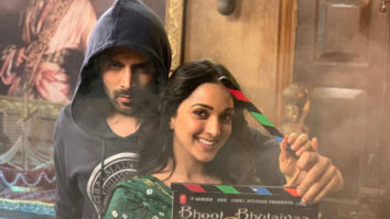 YAY! Kartik Aaryan and Kiara Advani kick-start Bhool Bhulaiyaa 2!