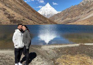 Anushka Sharma and Virat Kohli hold hands while enjoying the scenic beauty of Bhutan