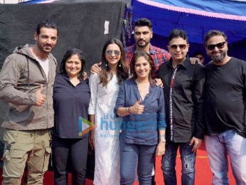 On The Sets Of The Movie Arjun Kapoor and Rakul Preet Singh's Next