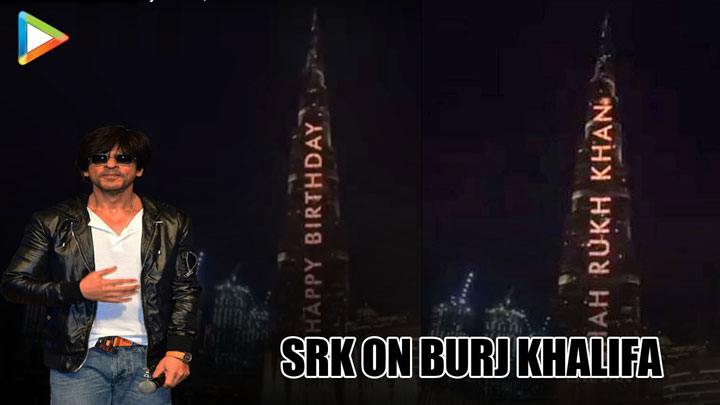 HISTORIC Shah Rukh Khan on Burj Khalifa, Dubai