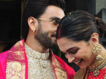Happy Anniversary DeepVeer Ranveer Singh and Deepika Padukone look REGAL as ever they twin in regal and gold outfits during Tirumala temple visit
