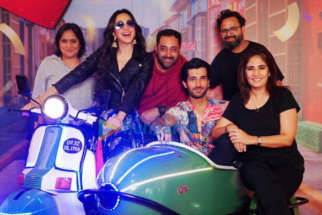 on the sets of the movie Indoo Ki Jawani