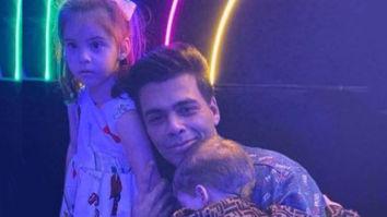 Karan Johar poses adorably with his daughter Roohi and 'camera shy' son, Yash