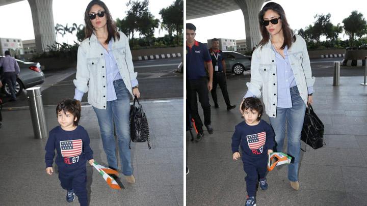 Kareena Kapoor Khan & Taimur Ali Khan spotted at airport, Mumbai