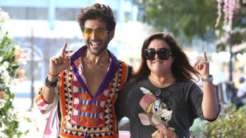 Kartik Aaryan finds himself lucky as he grooves with Farah Khan Kunder during the rehearsals of 'Akhiyon Se Goli Maare'