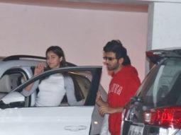Kartik aaryan & Ananya Panday spotted at Karan Johar's House