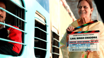 on the sets of the movie Lal Singh Chaddha