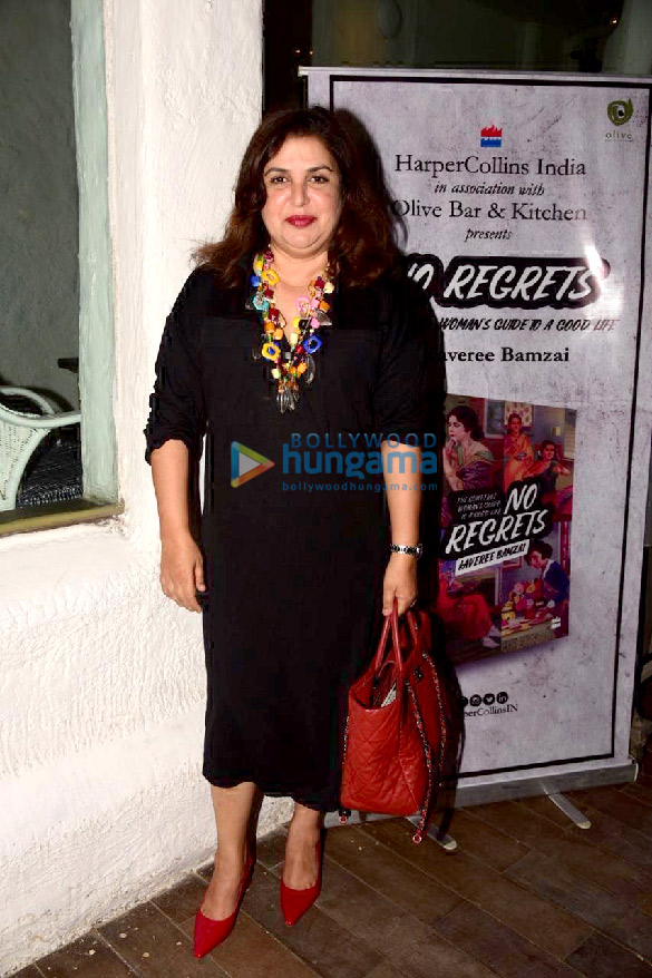 Photos: Farah Khan snapped attending the launch of Kaveree Bamzai's book 'No Regrets'