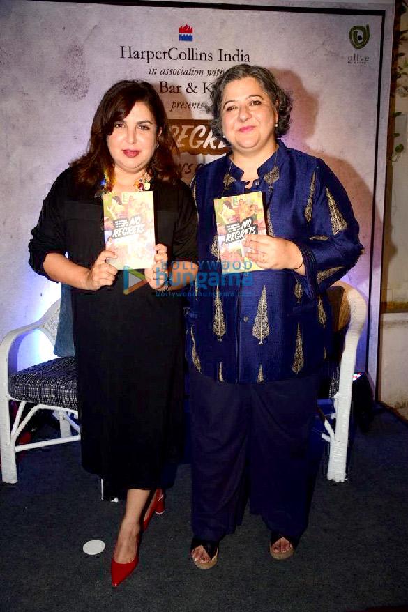 Photos: Farah Khan snapped attending the launch of Kaveree Bamzai's book 'No Regrets'