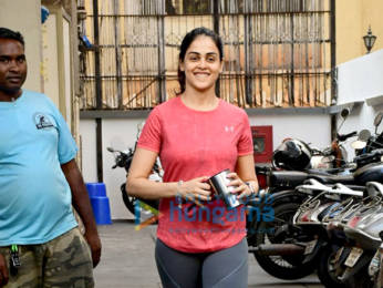 Photos: Genelia Dsouza spotted at gym